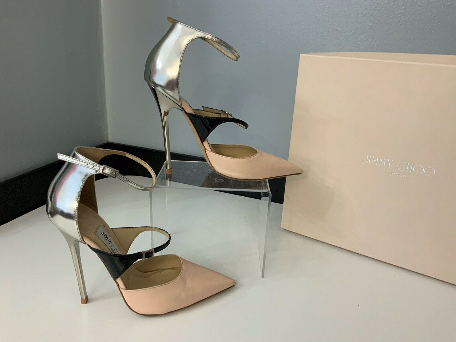 Jimmy Choo Sunday Court Pointy Pump shoes Size 36 Uk 3 Boxed Rrp  Vgc