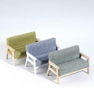 1-12-Puppenhaus-Miniatur-Moebel-Holz-Doppel-Sofa-Couch-Modell-im-japanischen-Stil
