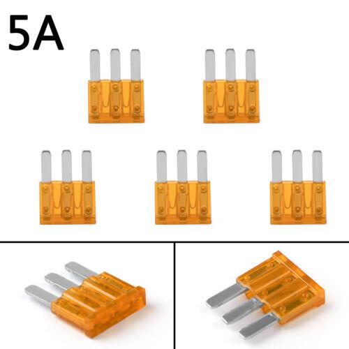 Micro3 Fuse Automotive 5A 7.5A 10A 15A 20A 25A 30A 3 Prong Micro Blade Fuse A3