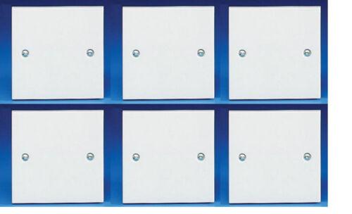 Blanc plaque d/'obturation//Visage Plaque 1 Gang Plaque Carrée /& Vis Sélectionner Jusqu/'à 10