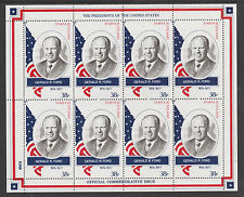GB Locals - Staffa 3410 - 1982 US PRESIDENTS #38 GERALD R FORD sheet of 8 mnh