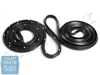 1969-70 Gm B Body Full Size Front Door Weatherstrip Seals - Lm21h