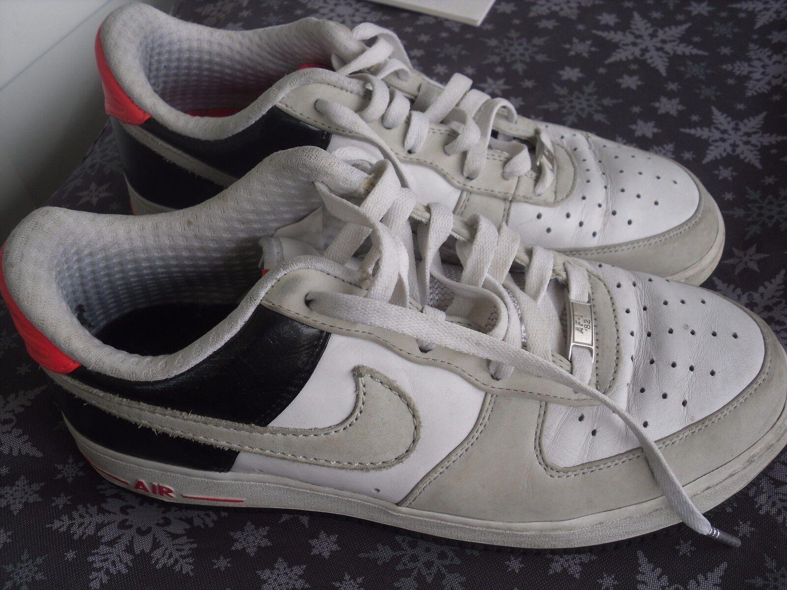 Nike air force 1 white nuetral grey sz 9 318775-101 02 / 19 / 08