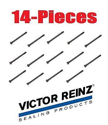 14-Pieces OEM Reinz Engine Cylinder Head Bolt BMW E10 E12 E21 E23 E24 E28 E30