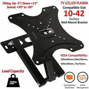 TV-Wall-Bracket-Mount-Swivel-Tilt-10-14-21-23-26-32-37-40-42-034-Plasma-3D-LED-LCD