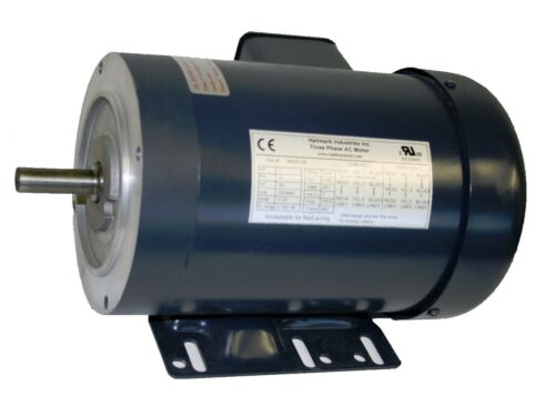 3PH 56C//TEFC 208-230V//460V 1725RPM AC MOTOR 1//3HP WITH BASE