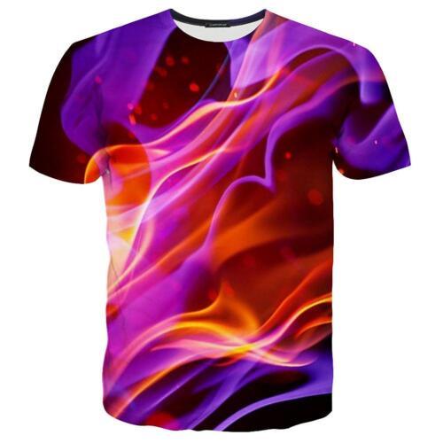 Summer Women//Men Psychedelic 3D Print Casual Short sleeve T-Shirt tops S-5XL KH5