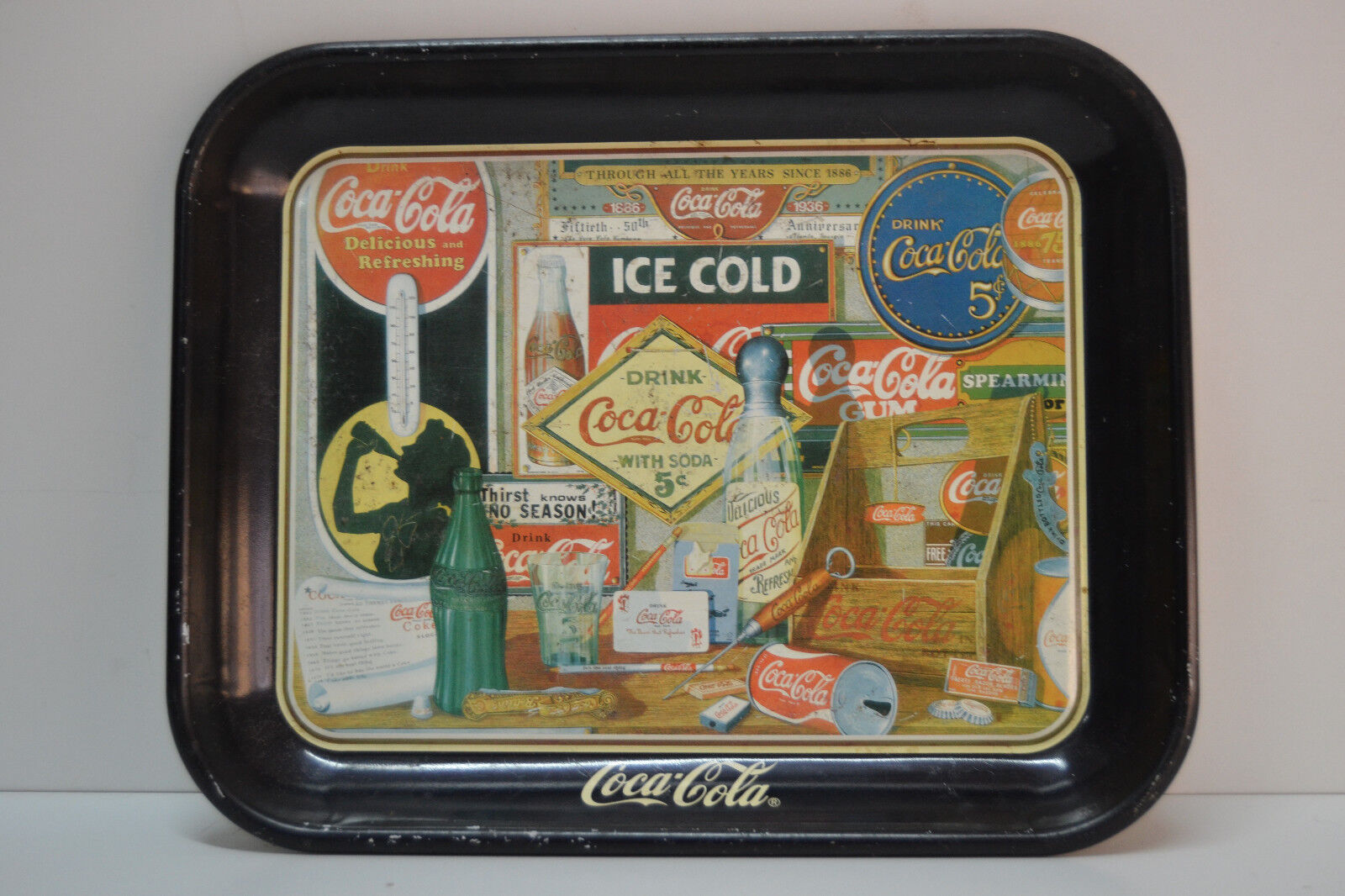 Bandeja Coca Cola Vintage - Through the years - 1985