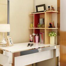 Wood Desktop Shelf Desk Storage Organizer Table Bookshelf Bookcase Office Shelve