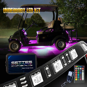 Details About Golf Cart Led Body Glow Neon Wireless Lights 128led Kit For Ezgo Club Car Yamaha