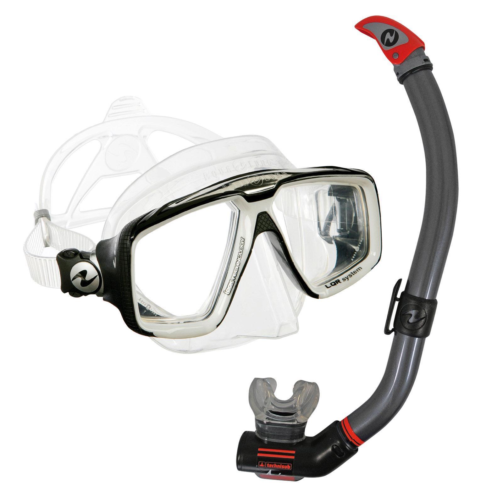 AquaLung Schnorchelset Comfort – Maske Maske Maske Look HD mit Schnorchel Air Ventil 9520be