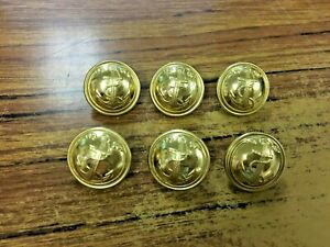 Details about Vintage 6 French NAVY Army Military uniform buttons PARIS