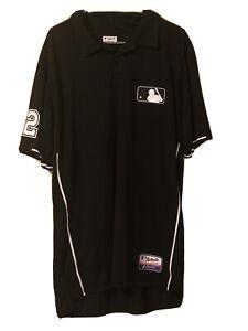 MLB Umpire Gerry Davis Game Worn Shirt Black Size XL