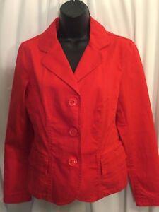 Talbots-Women-039-s-Red-Stretch-Casual-Blazer-Jacket-Size-8