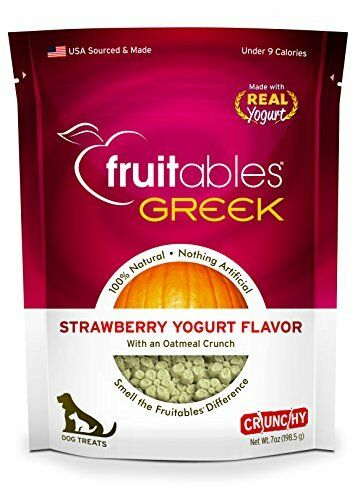 Fruitables Greek Strawberry Yogurt Crunchy Dog Treats