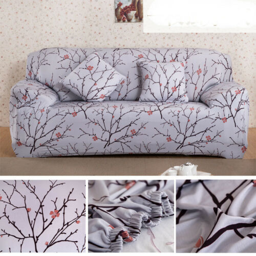 Removable Floral Lounge Couch Stretch Sofa Covers Slipcover 1 2 3 4 Seater