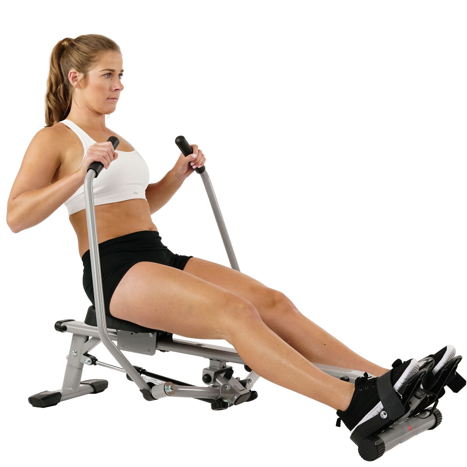 Sunny Health and Fitness Full Motion Rowing Machine Rower with 350lb Capacity an 1