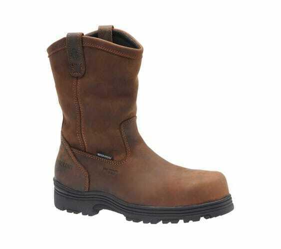 Carolina Men's Composite Toe Wellington Dark Brown Crazy Horse Leather