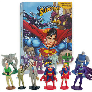 DC COMICS SUPERMAN BUSY BOOK - 12 FIGURES AND A PLAYMAT BRAND NEW FREE P+P