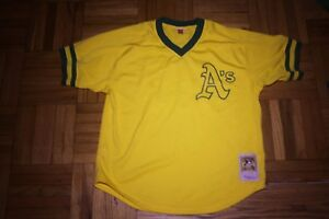 100% authentic 69cb3 4c959 Details about OAKLAND A'S THROWBACK JERSEY - MITHCELL & NESS