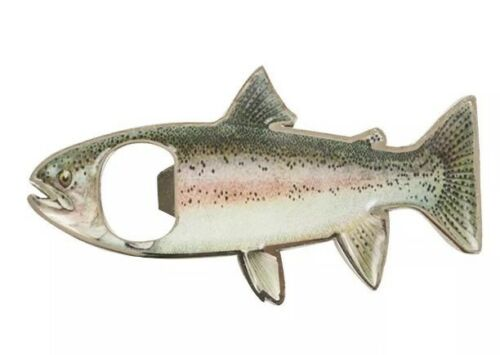Rainbow Trout Fish Shaped Bottle Opener Fridge Magnet Fishing Tasmania