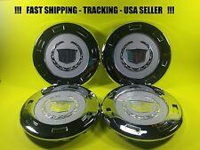 """4 x Chome Center Cap For Cadillac Escalade 22"""" Wheel 200mm Silver 9596649"""