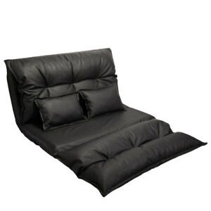 Home Theater Seats Loveseat Sofa Seating Foldable Pu Leather Gaming