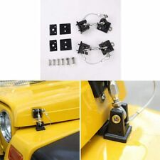 Hood Latches Pins Anti Theft Hood Catch Lock Kit For 1997 2006 Jeep Wrangler Tj