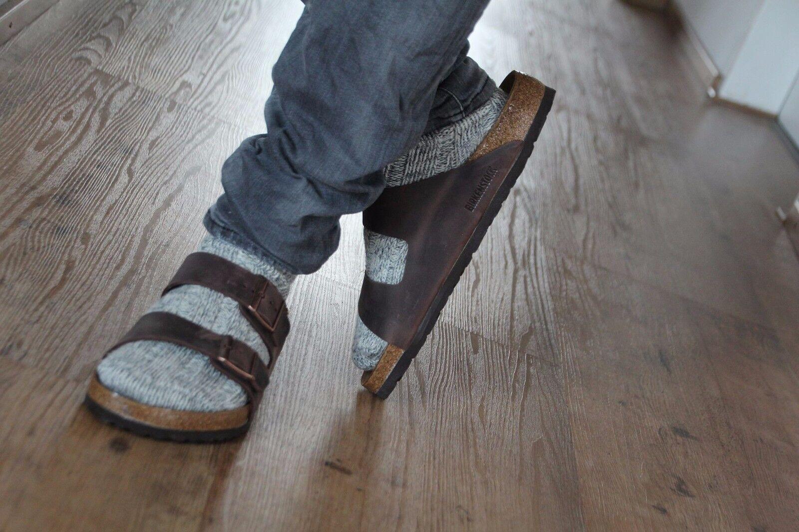 Birkenstock Arizona habana Fettleder Gr. 37-48 Fußbett Schmal o. Normal