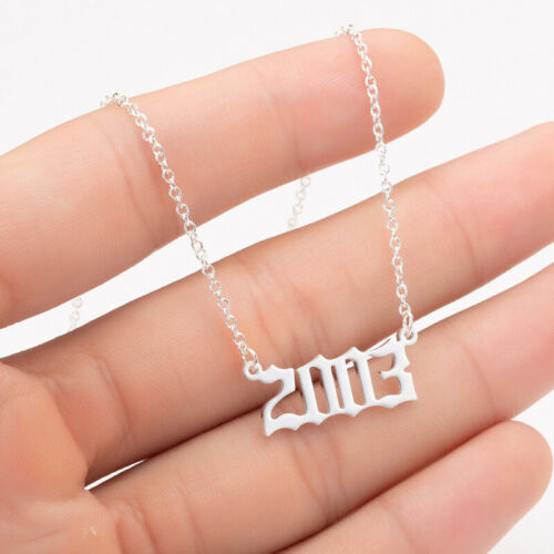 Custom Personalized for Necklaces  Number Birthday 1980-2019