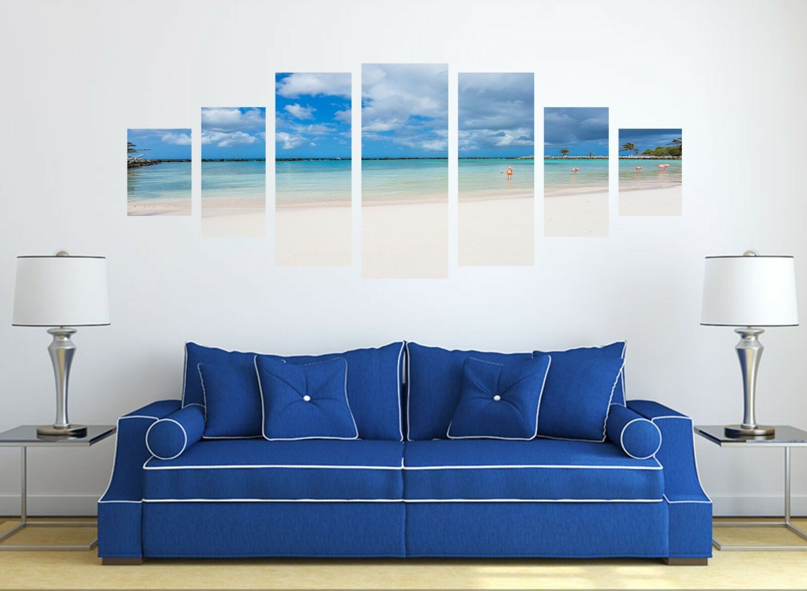 3D Sky bluee Beach Sea 123 Unframed Print Wall Paper Deco Indoor AJ Summer