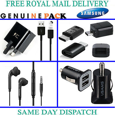 Pack Of Genuine Samsung Fast Charger Usb C Cable Earphones Otg Adapter Car Plug Ebay