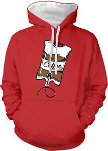 Coffee IV Intravenous Drip Arm Caffeine Addicted Needle Drink Hoodie Sweatshirt