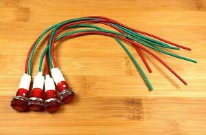 Special Offer 2 BBT Brand 12 volt Waterproof Red Indicator Lights