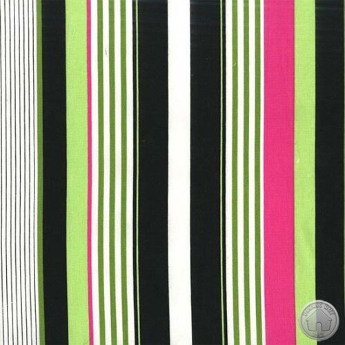 Michael Miller Starboard Stripe Black 100/% Cotton Fabric By The Yard