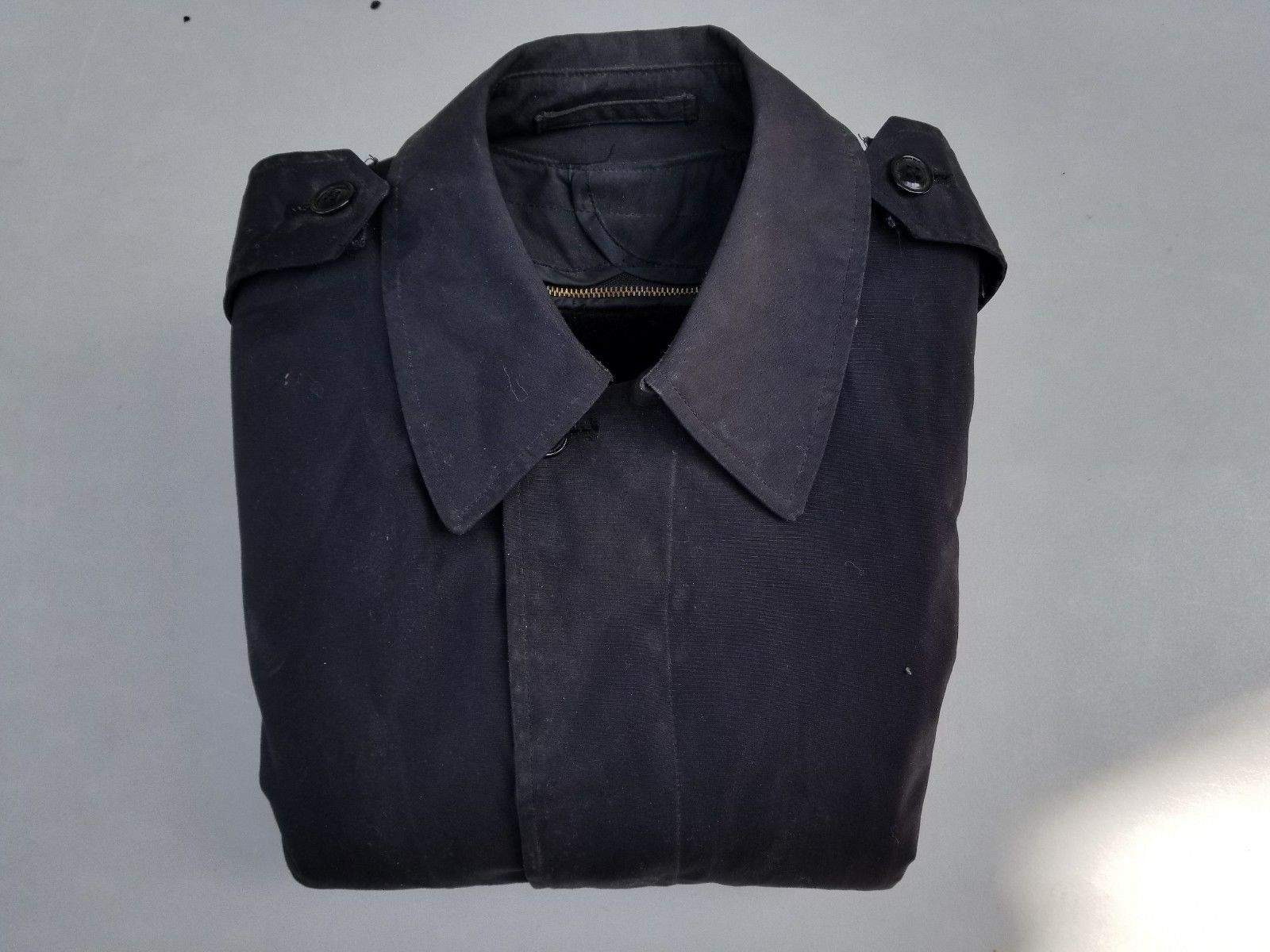 US Navy All-Weather Trenchcoat 32XS MFG Sentre Co. Inc. w  Rem. Liner Dated 1987