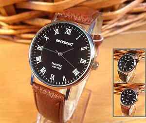 New-Sanwood-Mens-Gents-Classic-Roman-Numeral-Alloy-Quartz-Watch-Colour-Choice