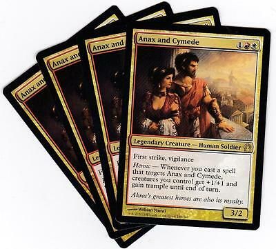 Magic the Gathering MTG Theros Anax and Cymede X4
