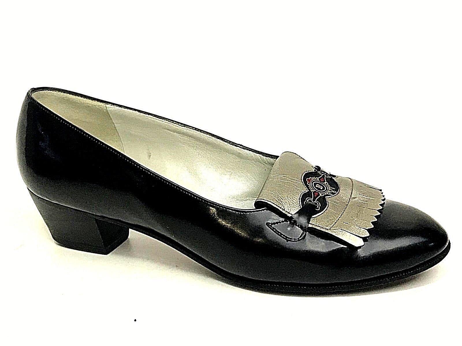Bally Suisse  Bellezza Rear Women's Black Loafer shoes US.5.5E EU.36 UK.3.5