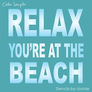 Designs joanie stencil relax beach vacation family house cabin lake porch signs - Summer house plans delight relaxation ...