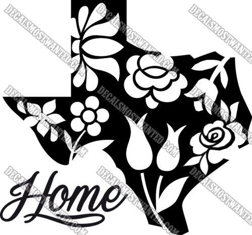 Texas Home pride decal  sticker die cut vinyl Car window State