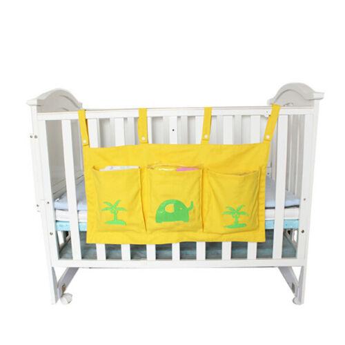 Bed Hanging Storage Bag Infant Cot Bed Baby Crib Organizer Diaper Pocket CB