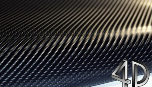 "4D Carbon Fiber BLACK Vinyl 24/"" x 60/"" Vehicle Wrapping Sticker Sheet AIR FREE"