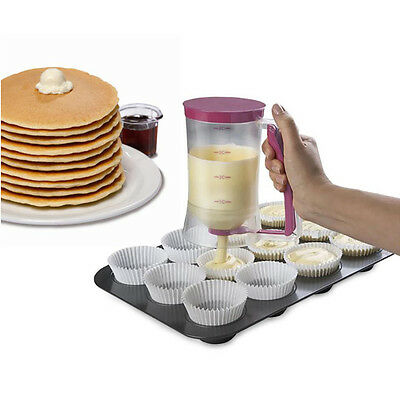 Deluxe Pancake Batter Dispenser with Pull Trigger Release and 4-Cup Capacity
