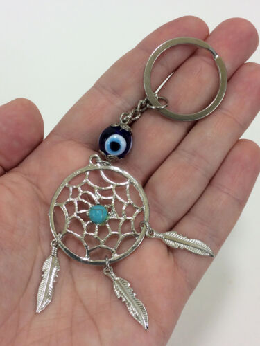 Dream Catcher Evil Eye Key Chain Key Ring Protection Feathers