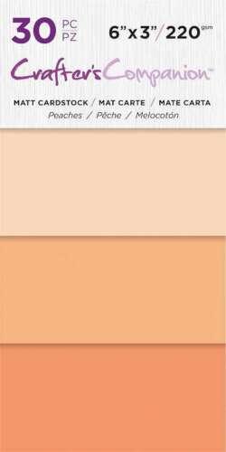 "Crafter/'s Companion Matte Cardstock 6/""X3/"" 30//Pkg Peaches 709650865488"