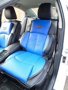 i to fit a ford focus st car seat covers ys02 recaro sports blue black ebay. Black Bedroom Furniture Sets. Home Design Ideas