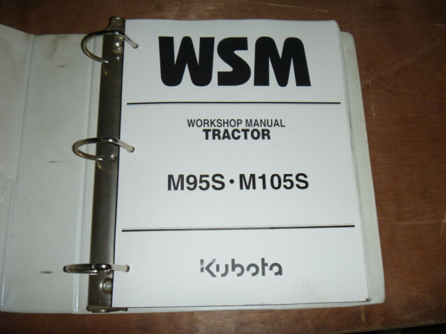 Kubota M95s M105s Tractor Shop Service Repair Manual