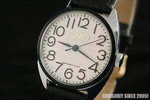 Vintage-Russian-USSR-OLD-stock-1970-039-s-wrist-watch-PAKETA-Rocket-Raketa-2609