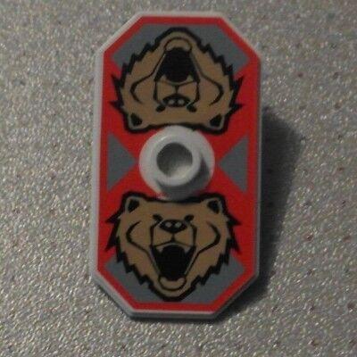 Santis Bear Lego 48494pb04 Castle Minifigure Shield Rectangular